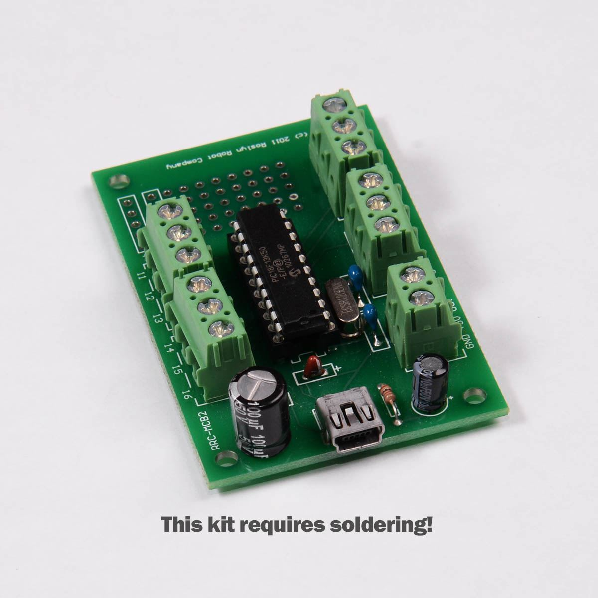 Picture of PIC18F13K50 Experimenters Board Kit